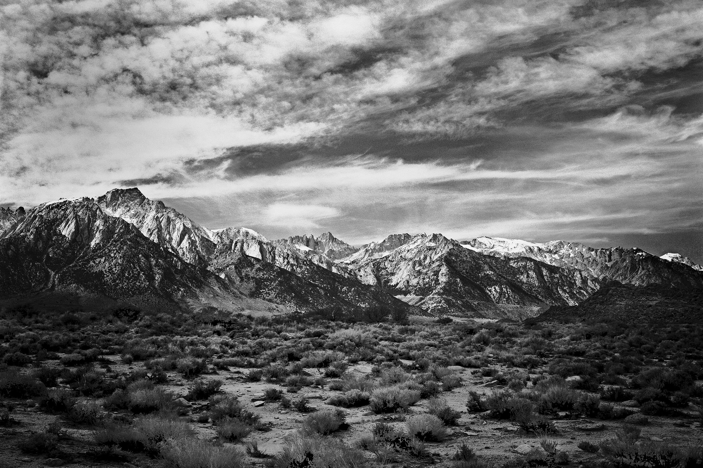 Mt. Whitney from the Alabama Hills Hwy 395 near Lone Pine, CA by Chuck Farmer